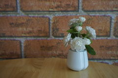 Vase of flowers for decoration. Coffee cafe royalty free stock photography