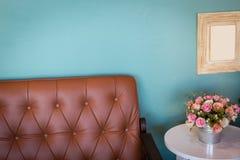 Vase of flowers in modern living room Royalty Free Stock Image