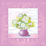 Vase of flowers,vector Royalty Free Stock Images