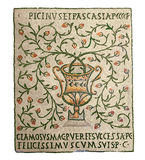 Vase - forntida mosaik Arkivbilder