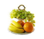 Vase with fruit Royalty Free Stock Images