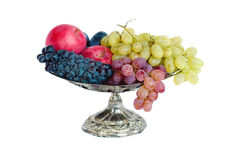 Vase with fruit Stock Photos