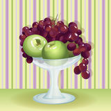 Vase with fruit. Vector illustration Stock Photo
