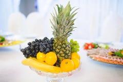 Vase with Fruits Stock Image