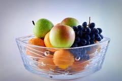 Vase of fruits stock image
