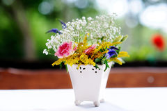 A vase full of assorted flowers Stock Photography