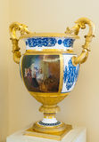 Vase with golden handles in Hermitage Royalty Free Stock Photo