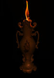Vase gothique avec le feu Images libres de droits