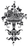 Vase with grapes. Greek Vase with grapes -  illustration Stock Photos