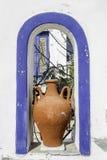 Vase grec traditionnel sur l'île d'Amorgos, Grèce Photo stock