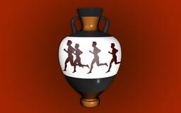 Vase i antik stil Arkivbilder