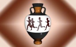 Vase i antik stil Fotografering för Bildbyråer
