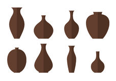 Vase. Icon set Royalty Free Stock Photography