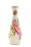 Vase im antiken Zauntritt Stockfotografie