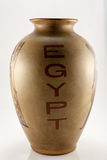 Vase with the inscription Egypt Stock Photography