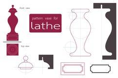 Vase lathe Stock Image