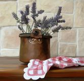 Vase of lavender Stock Photos