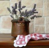 vase of lavender stock photos