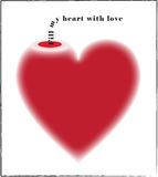 Vase Liebe: Füllen Sie mein Inneres mit Liebe Lizenzfreies Stockbild