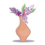 Vase with lilac Royalty Free Stock Photo