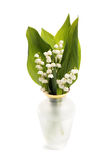 Vase with lily of the valley Royalty Free Stock Photos