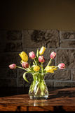 A vase with a lots of tulips Royalty Free Stock Photo