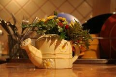 Vase mit Blumen Stockbild