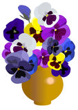 Vase mit dem flowers2 stock abbildung