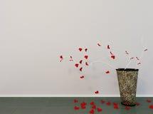 Vase mit den kreativen Niederlassungen, Lizenzfreies Stockbild