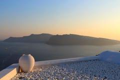 Vase mit einer Ansicht Stockfotografie