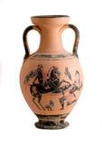 Vase mit einer griechischen historischen Szene Lizenzfreie Stockbilder