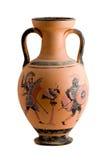 Vase mit einer griechischen historischen Szene Lizenzfreies Stockfoto