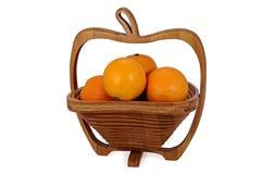 Vase mit einer Tangerine Stockfotos