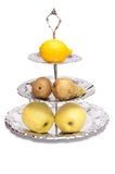 Vase mit Frucht Lizenzfreies Stockbild