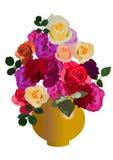 Vase mit Rosen lizenzfreie abbildung