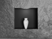 Vase in the niche, 3d Stock Photos