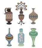 Vase ornament element vector. Vase ornament element on white, vector royalty free illustration