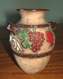 Ornamental Terracotta Vase. Old Terracotta Vase that can be used as a nice piece to decor almost any place in the house Stock Image
