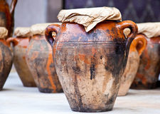 Vase and other products of the Moroccan. Teapot, tadjin, vase and other products of the Moroccan potter's factories Stock Photography