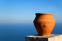 Vase overlooking sea stock photography