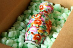 Vase packed in foam B Stock Images