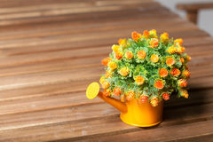 Vase Planter. Vase flower pot. Placed on a table made of wood inside the house stock photography