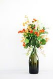 Vase with Plastic flowers Stock Photography