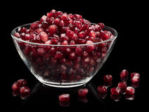 Vase with pomegranate grains Royalty Free Stock Photography