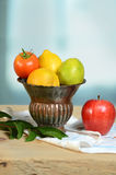 Vase with Produce Royalty Free Stock Photos