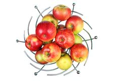 Vase of red apples Royalty Free Stock Photography