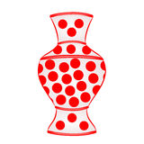 Vase with red dots vector Royalty Free Stock Photo
