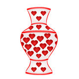 Vase with red hearts vector Royalty Free Stock Photo