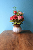 Vase rose flowers handmade. Stock Images