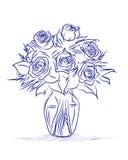 Vase of roses Stock Photo
